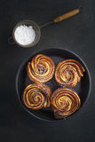 Fresh baked cruffins Stock Images
