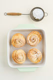 Fresh baked cruffins Royalty Free Stock Photos