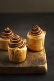 Fresh baked cruffins Stock Photos