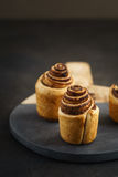 Fresh baked cruffins Royalty Free Stock Photography