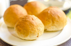 Fresh baked dinner rolls Royalty Free Stock Photos