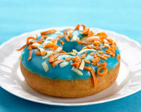 Fresh baked donut royalty free stock images