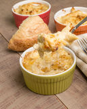 Fresh baked Dungeness Crab macaroni and cheese Royalty Free Stock Image