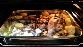 Fresh baked fish Stock Photography