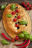 Fresh baked focaccia bread Royalty Free Stock Photography
