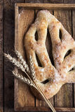 Fresh baked Fougasse, traditional french bread, Royalty Free Stock Images