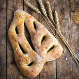 Fresh baked Fougasse, traditional french bread, Stock Photo