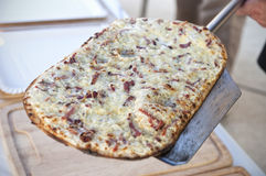 Fresh Baked French Flammkuchen Royalty Free Stock Image