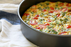 Fresh Baked Frittata Royalty Free Stock Images