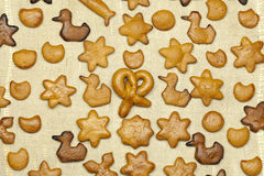 Fresh baked  gingerbread Stock Photos
