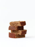 Fresh baked gingerbread isolated. Stack of delicious homemade gingerbread isolated on white Royalty Free Stock Photos
