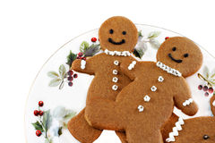 Fresh baked gingerbread men Stock Photo