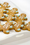 Fresh baked gingerbread men cookies Stock Image