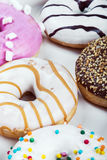 Fresh baked glazed donuts in a box Royalty Free Stock Photo