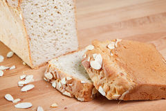 Fresh baked gluten free almond bread Royalty Free Stock Photography