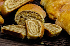 Fresh baked holiday nut rolls Royalty Free Stock Photography