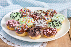 Fresh baked homemade mini donuts Royalty Free Stock Images