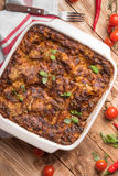 Fresh Baked Lasagne with Tomatoes Chilli Stock Photography