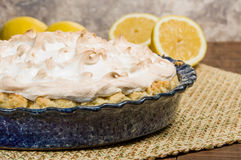 Fresh baked lemon meringue pie Royalty Free Stock Image