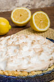 Fresh baked lemon meringue pie Stock Photo