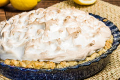 Fresh baked lemon meringue pie Stock Photography