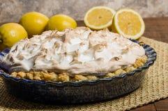 Fresh baked lemon meringue pie Royalty Free Stock Photography