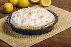 Fresh baked lemon meringue pie Royalty Free Stock Image