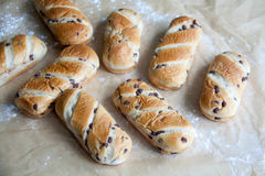 Fresh baked loaf with chocolate drops Stock Image