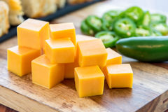 Fresh baked loaf of jalapeno cheddar bread Royalty Free Stock Photo