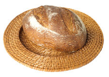 Fresh baked loaf of sourdough rye bread Royalty Free Stock Image