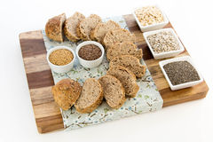 A fresh baked loaf of whole grains bread Royalty Free Stock Images