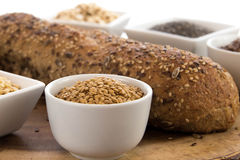 A fresh baked loaf of whole grains bread Royalty Free Stock Image