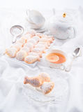 Fresh baked madeleines cookies Royalty Free Stock Photography