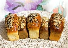 Fresh baked mini bread Stock Photo