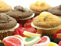Fresh baked muffins Royalty Free Stock Photography