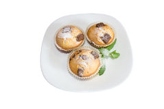 Fresh baked muffins with clipping path Royalty Free Stock Photo