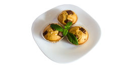 Fresh baked muffins with clipping path Royalty Free Stock Photography