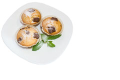 Fresh baked muffins with clipping path Stock Image