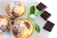 Fresh baked muffins with clipping path Stock Photos
