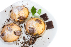 Fresh baked muffins with clipping path Stock Photography