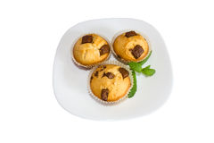 Fresh baked muffins with clipping path Royalty Free Stock Images