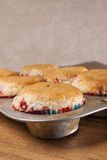Fresh baked muffins,pan Royalty Free Stock Photo