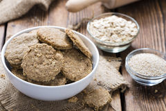 Fresh baked Oat Cookies Stock Images