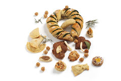 Fresh baked pastries beautifully displayed Stock Image