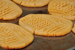 Fresh Baked Peanut Butter Cookies Stock Photo