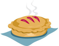 Fresh baked pie. Illustration of a fresh baked pie, still steaming Stock Photography