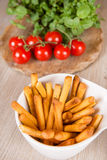 Fresh baked pizza bread sticks with bunch of tomato Royalty Free Stock Photos