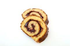 Fresh Baked Plum Jam Roll Cake Stock Photography