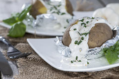 Fresh Baked Potatoe Stock Images
