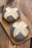 Fresh baked Pretzel Roll (with Poppyseed) Royalty Free Stock Image